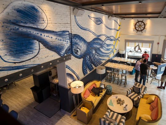 An first look inside the highly anticipated Izzy's Fish & Oyster in downtown Fort Myers Friday, June 2, 2017.
