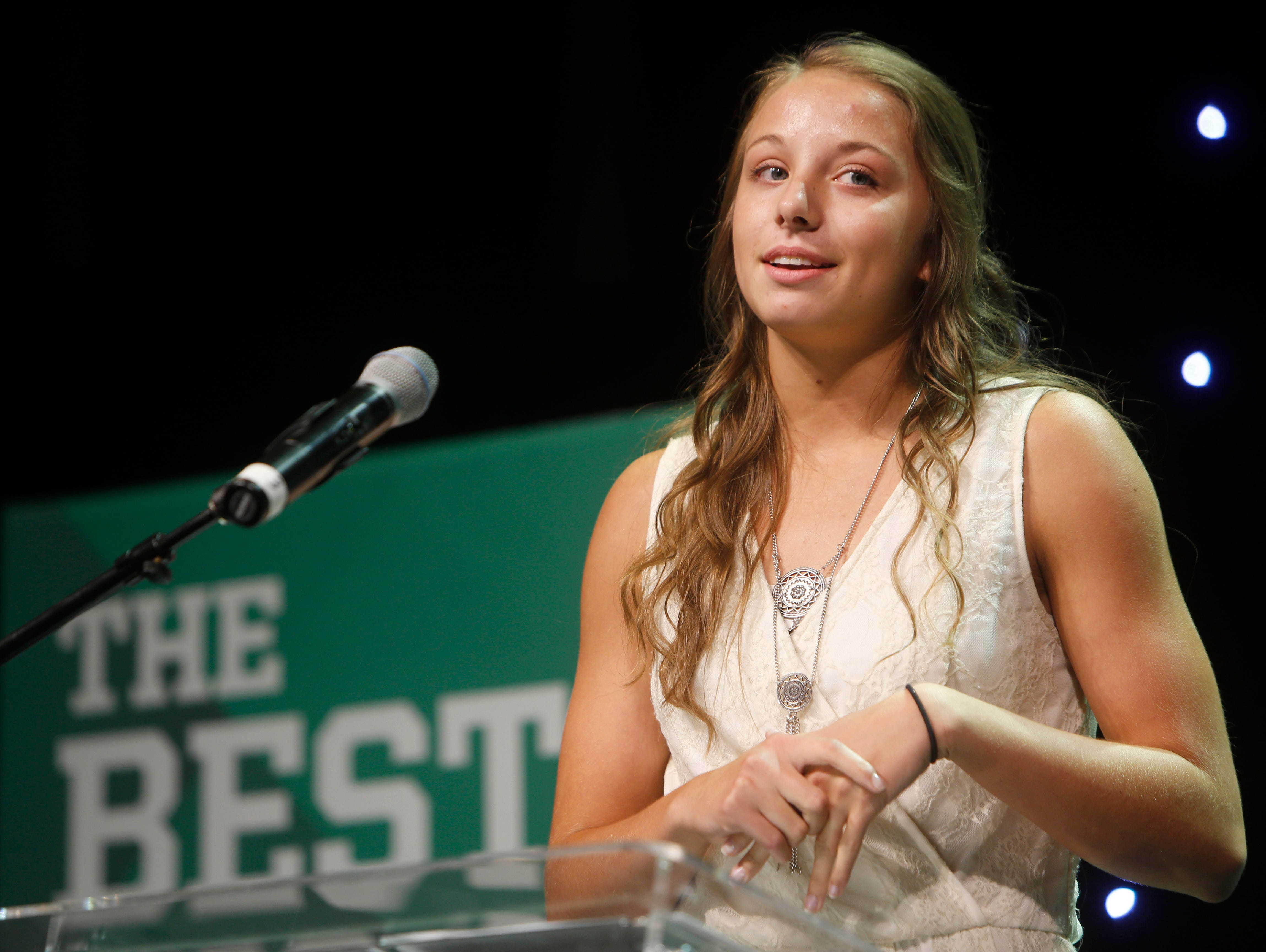 Brooke Stanfield was named the female athlete of the year during the 2016 Southwest Missouri Sports Awards at the Springfield Expo Center on Thursday, June 9, 2016.
