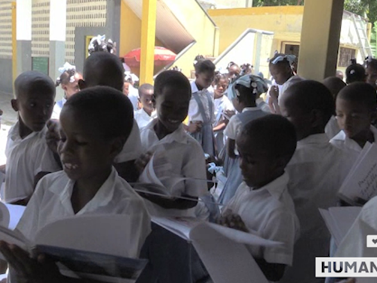 Six-hundred kids at St. Gabriel's school in Haiti have