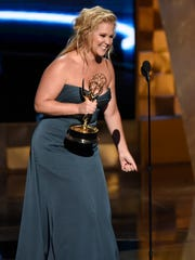 Amy Schumer accepts the award for outstanding variety