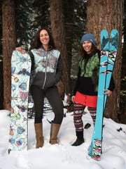 Coalition Snow CEO Jen Gurecki, left, and COO Jenn Sheridan pose for a portrait outside their offices at Alpine Meadows on Dec. 4, 2015.