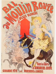 """Milwaukeeans Susee and James Wiechmann promised a gift to the Milwaukee Art Museum of more than 500 Jules Chéret artworks. Here, is Chéret's 1889 lithograph """"Bal du Moulin Rouge."""""""