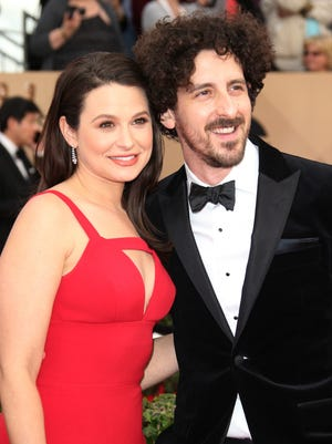 Actors Katie Lowes and Adam Shapiro are expecting their first child.