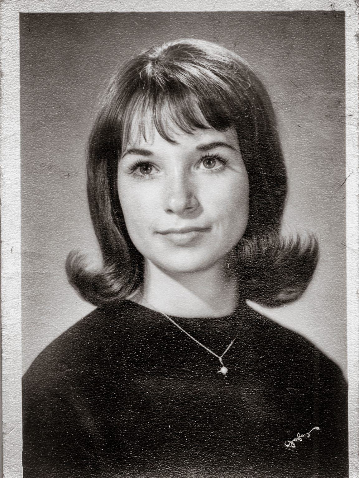 Mimi Stewart, senior picture, 1965, Wheatridge High