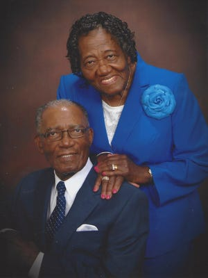 Bishop Glenford E. Hutchinson, pastor of Port Salerno Church of God for the past 35 years, and his wife Mother Sarah Hutchinson.