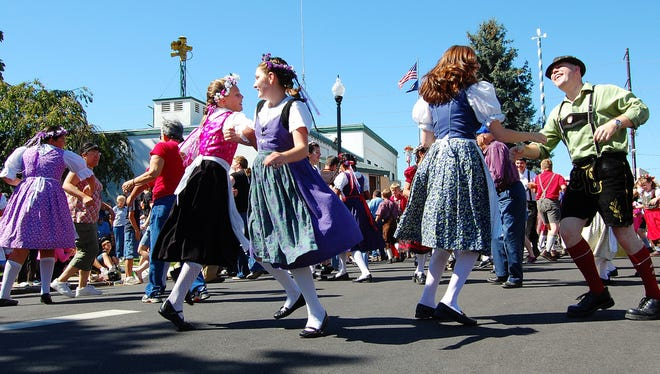 Learn the Chicken Dance at Mount Angel Oktoberfest. The event takes place 11 a.m. to 9 p.m. Thursday, September 11 through Sunday, September 14.