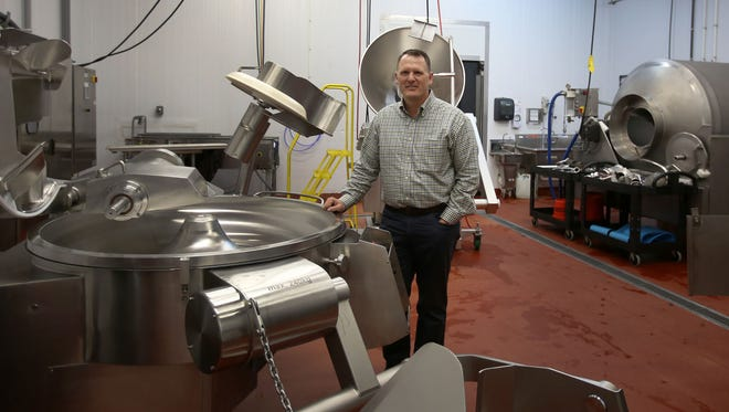 Shawn Spencer is the president of Clean Planet, a company that makes ready to eat meats. He is photographed at the production facility in Clinton Township on Wednesday, March 1, 2017.