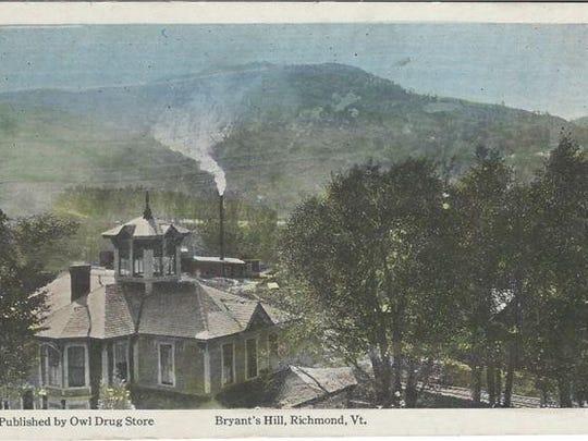 Postcard view of Richmond, including creamery smokestack.