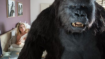"Catherine Deneuve falls for a gorilla in ""The Brand New Testament."""