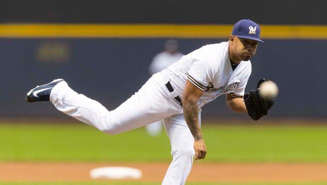 Brewers pitcher Junior Guerra did not give up a run.
