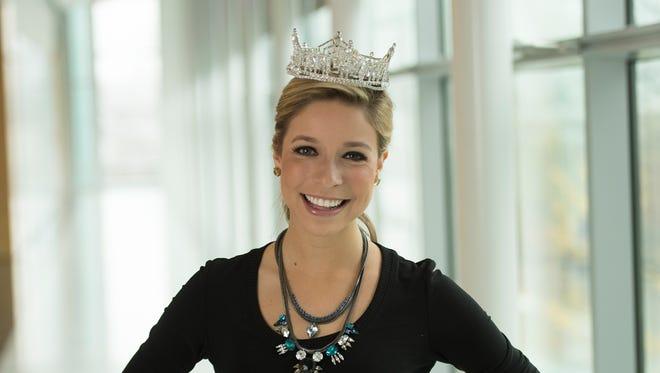 Miss America Kira Kazantsev visits USA TODAY on Nov. 17.