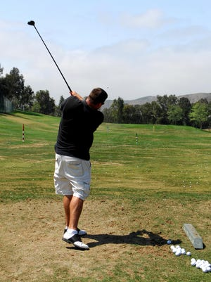 Feel is important, because if you are following the club head back with your eyes, you're not focusing on the ball.