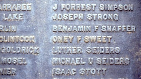 Sweet's name appears on the oft-photographed memorial to Ricketts' Battery on East Cemetery Hill.