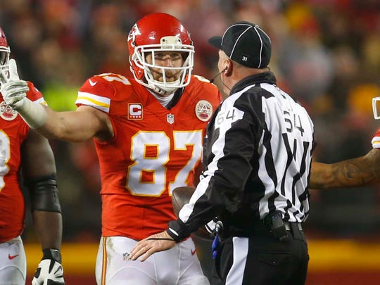 Chiefs tight end Travis Kelce was one of about a dozen