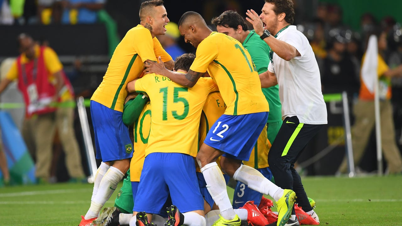 After a heartbreaking collapse on their home turf in the 2014 World Cup against Germany, Brazil found redemption during the gold medal match in Rio.