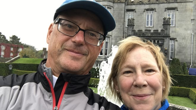 David and Nan Holmes posed for a selfie in front of Dromoland Castle in Ireland in 2017.