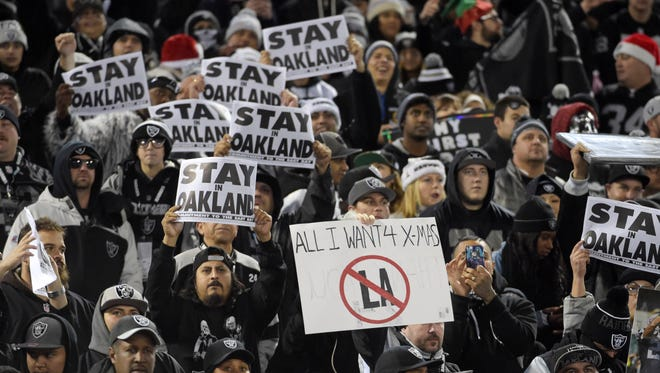 The Raiders have played 44 of their 57 seasons in Oakland.