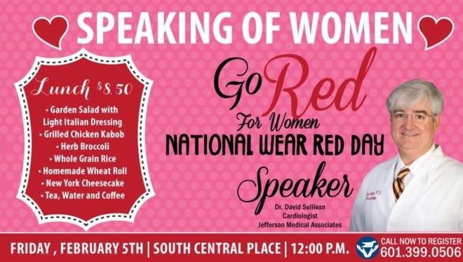 'Speaking of Women' will be held at noon Feb. 5.