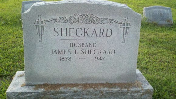 Jimmy Sheckard's grave in Columbia, Pa.