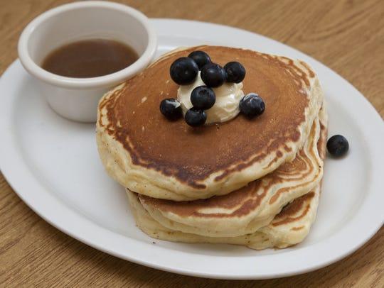 Blueberry pancakes at Hudson Cafe in Atlantic Highlands.