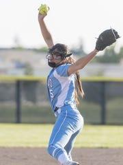 Redwood's Emily Ibarra pitches against El Diamante