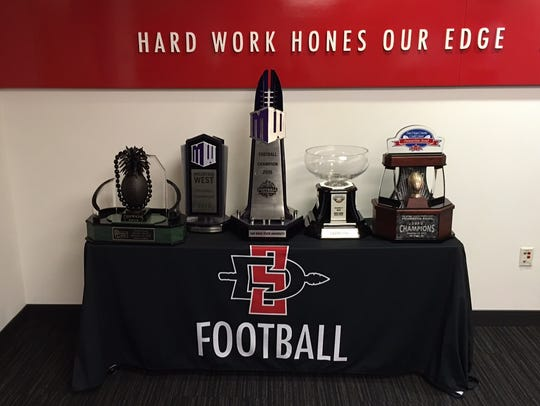This table houses some of San Diego State's most recent