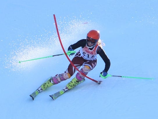 Milford's Morgan Watts was sixth in the giant slalom
