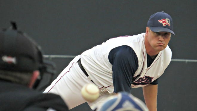 Derell McCall during his pitching days with the Somerset Patriots.