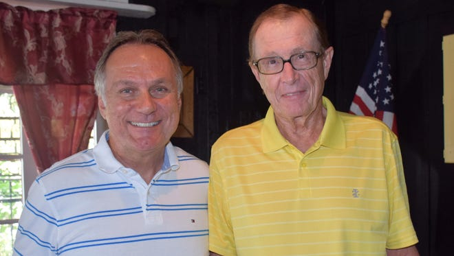 Women's Refuge 19th annual fundraising golf tournament Co-Chairs Mike Inghram, left, and Chuck Erickson. The October tournament was postponed due to rain. The new date is Jan. 6 at Bent Pine Golf Club, 6001 Clubhouse Drive, Vero Beach.