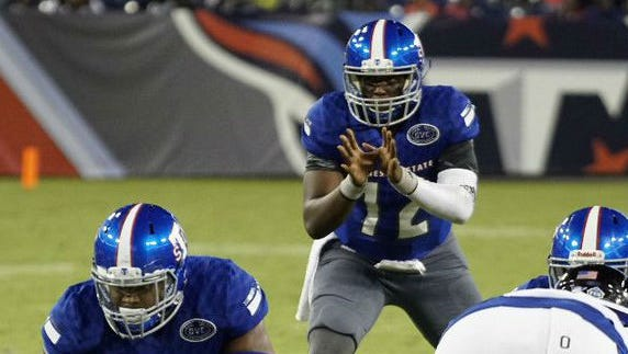 Former Hillsboro quarterback Michael Hughes got his first career start for Tennessee State last season at Eastern Kentucky.
