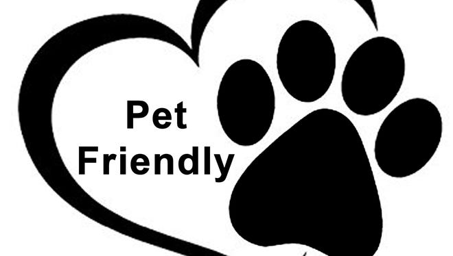 Downtown businesses are showing they are pet-friendly  by displaying this marker.