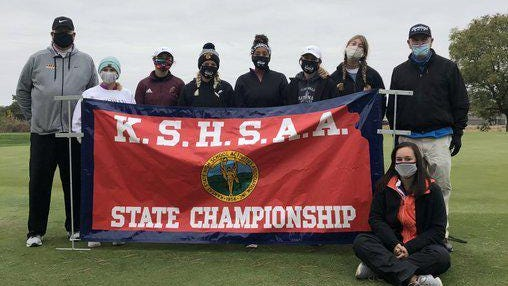 The Hays High girls golf team took fourth place in the Class 5A state tournament at Salina.