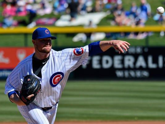 USP MLB: SPRING TRAINING-CHICAGO WHITE SOX AT CHIC S BBN CHC CHW USA AZ