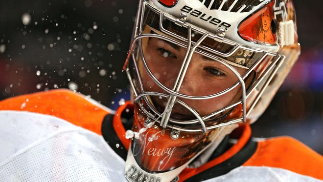 Michal Neuvirth likely would have gotten the start Saturday, but a stomach bug will keep him from the lineup.