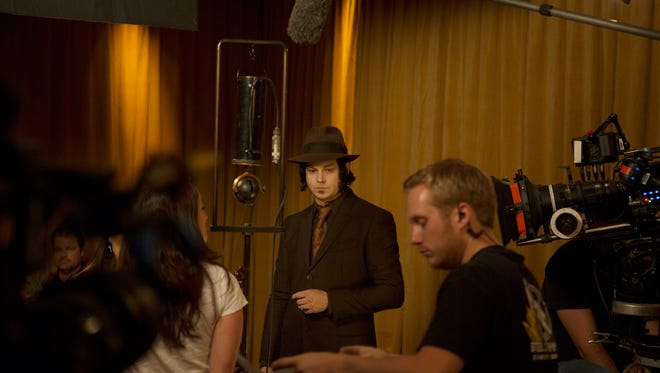 """Jack White oversees a studio session in 2013 for """"The American Epic Sessions"""" film and album."""