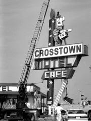 The sign in front of the Crosstown Motel, 2920 Division