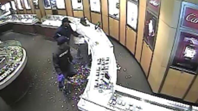 The City of White Plains Police Department is investigating a smash-and-grab robbery at the Tourneau store in The Westchester mall on Sunday. The three men entered Tourneau, smashed a display case with a hammer and stole seven watches worth a total of about $315,000.
