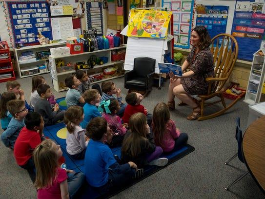 Christ the King pre-kindergarten teacher Heidi Bailey