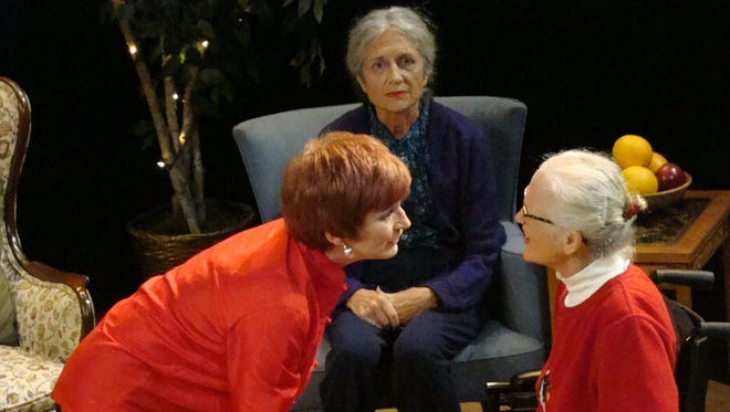 """The Homecoming Players' production of """"Dotty"""" includes, from left, Kristin Sad, Camilla Schade and Carolyn Cadigan."""