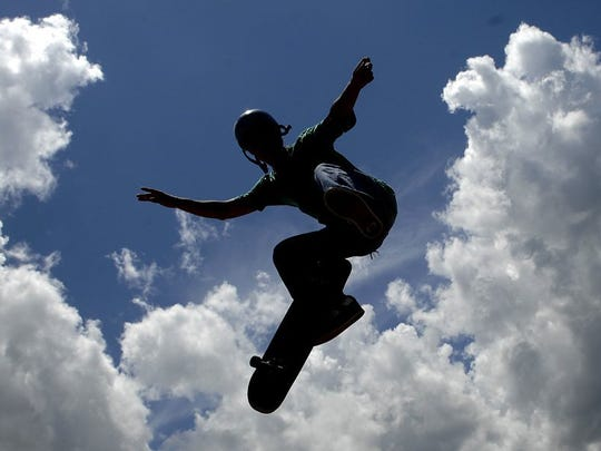 File photo of a skate boarder