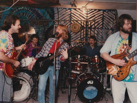 The Spirtles (from left, John Bigelow, Keith Yount, Rick Freeman, Joe O'Connell and John Vendely) are seen performing in this 1989 photo.
