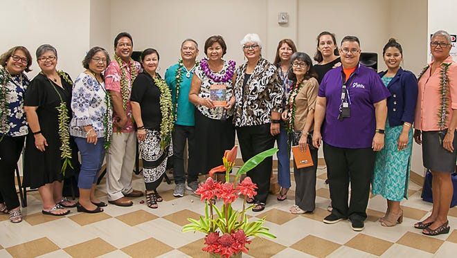 "Key contributors and collaborative partners who guided the production of the ""Fino' Siha Put Kinalamten Salut Yan Inutet Gi I Fino' CHamoru (Behavioral Health and Disabilities Glossary in Chamoru)"" celebrated the release of the publication during a ceremony held on Aug. 4 at the Senator Antonio M. Palomo Guam Museum and Educational Facility in Hågatña. Pictured from left:  Zita Pangelinan, Dr. Lilli Perez, Rosa Palomo, Ronald Laguana, Rufina Mendiola, Joey Franquez, Mariles Benavente, editor, Terrie Fejarang, Ann Rivera, Teresita Flores, Helene Paulino, Terry Aguon, Tasha Tydingco, and Dr. Pat Taimanglo."