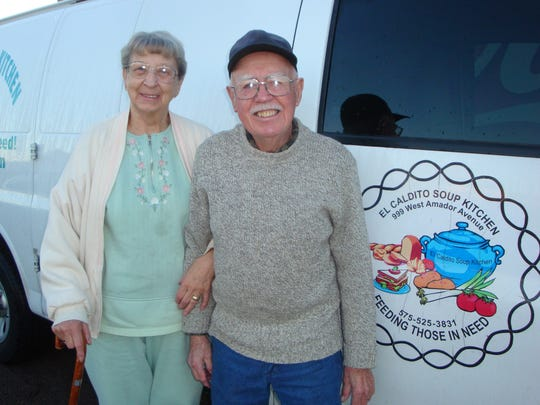 George and Laverne Lazansky retired Dec. 31 from a more-than-two-decade long tenure as volunteers with El Caldito Soup Kitchen, which feeds homeless and hungry residents of Las Cruces.