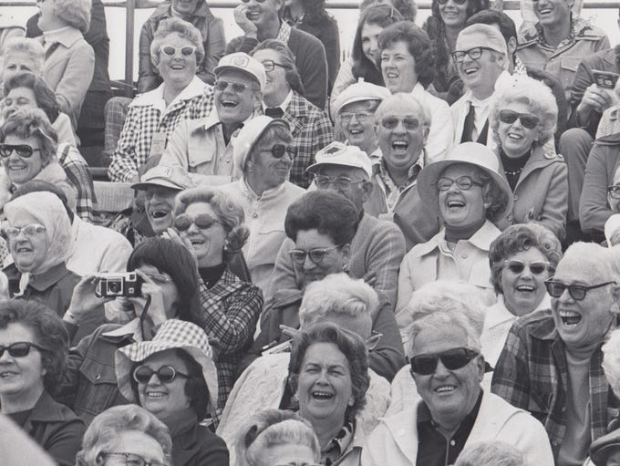 Spectators seen laughing at the Phoenix Open, Jan.