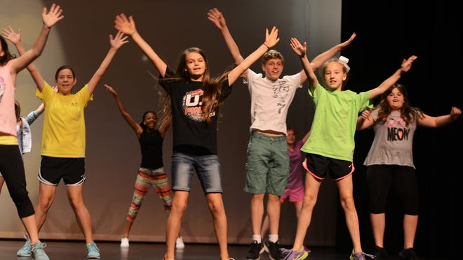 """Participants of Performing Arts Camp I rehearsed for their """"Kids The Musical"""" show, Wednesday, June 10, 2015. The show will be this Friday at The Ned."""