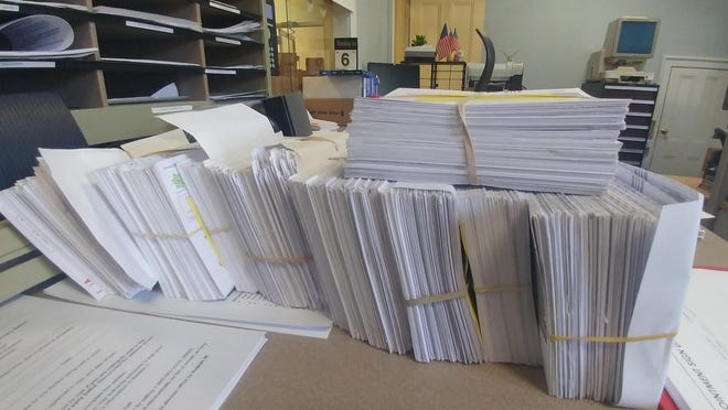 Mail-in vote requests continue to come in. Here are some of the processed requests.
