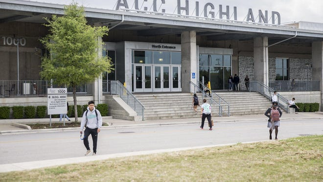 Austin Community College's Highland campus in 2019. ACC officials announced Friday a plan to gradually return to in-person classes amid the coronavirus pandemic.