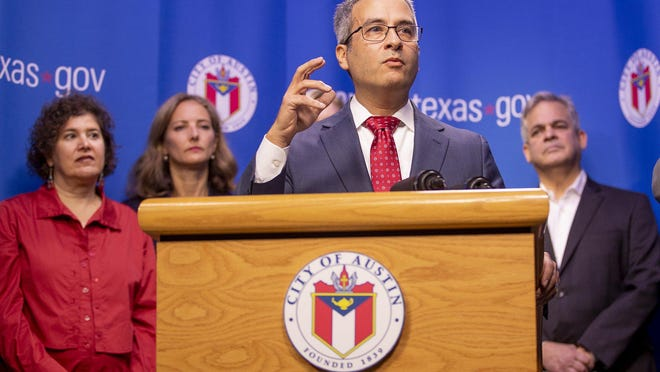 Dr. Mark Escott, Austin Public Health interim health authority, on Friday urged caution to prevent the  spread of the coronavirus over the Labor Day weekend.