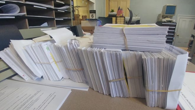 Some of the processed requests for mail-in votes in the state election.