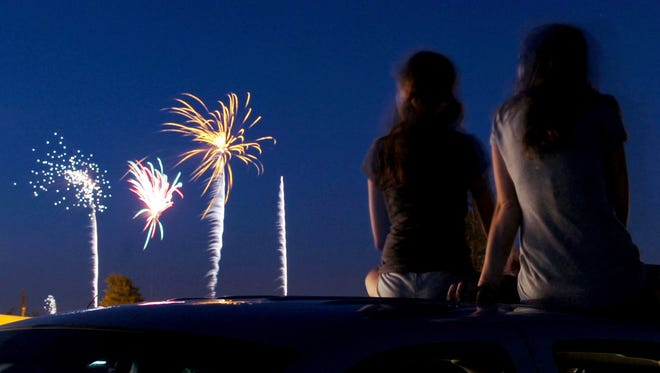 Fourth of July fireworks show during a previous Freedom Fest at Sheppard AFB.